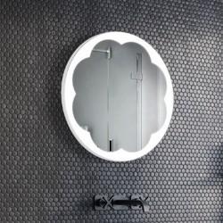 Specchio Rotondo Bagno Su Misura Filo Lucido Retroilluminante led 20W mod. Boston