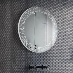 Specchio Rotondo Bagno Su Misura Filo Lucido Retroilluminante led 20W mod. Portofino