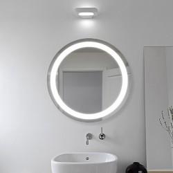 Specchio Rotondo Bagno Su Misura Filo Lucido Retroilluminante led 20W mod. Stromboli