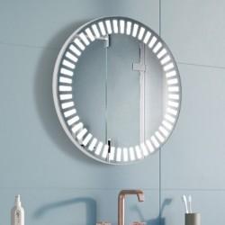Specchio Rotondo Bagno Su Misura Filo Lucido Retroilluminante led 20W mod. Lipari