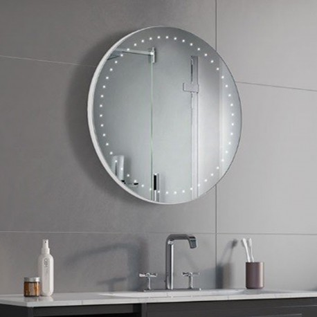 Specchio Rotondo Bagno Su Misura Filo Lucido Retroilluminante led 20W mod. Flat