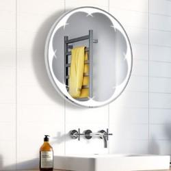 Specchio Rotondo Bagno Su Misura Filo Lucido Retroilluminante led 20W mod. Vanity