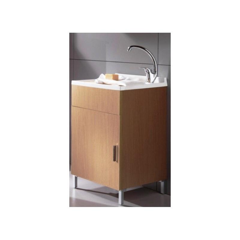 Mobile lavatoio rovere sbiancato 45x50 cm vendita online - Mobile bagno rovere sbiancato ...