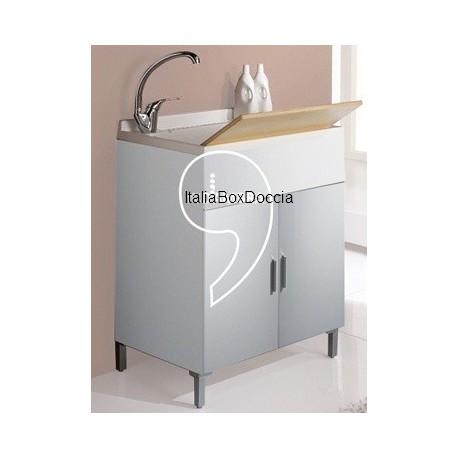 italia box doccia mobile lavatoio bianco 60x60