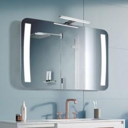 Su Misura Specchio da Bagno con Lampada Led 5W art. Trapezio01