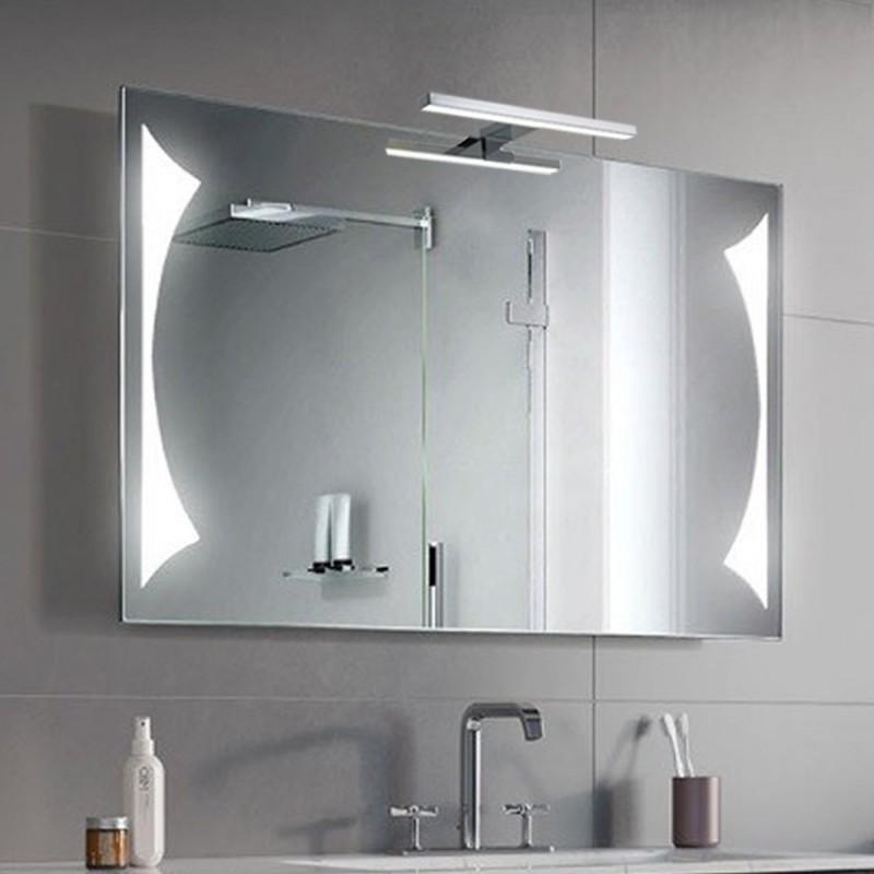 Specchio Bagno Con Lampada.Su Misura Specchio Da Bagno Con Lampada Led 5w Art Triangolo