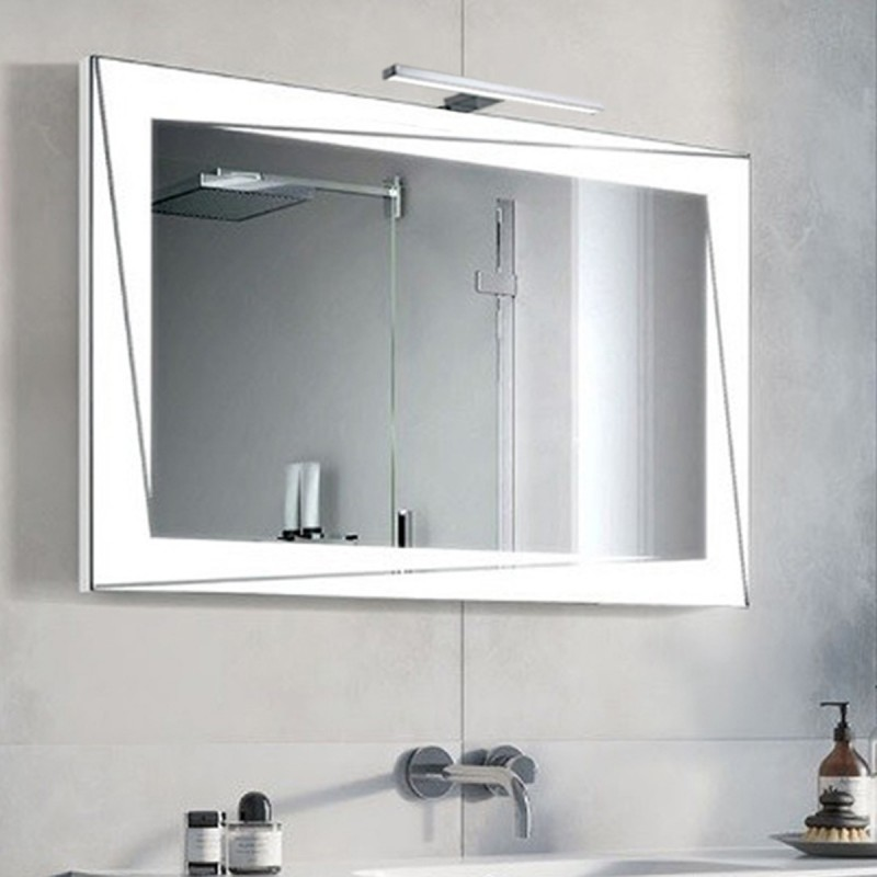 Specchio Bagno Con Lampada.Su Misura Specchio Da Bagno Con Lampada Led 5w Art Milena01