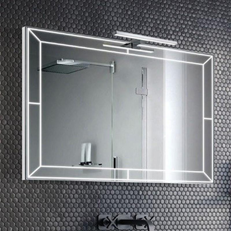 Specchio Bagno Con Lampada.Su Misura Specchio Da Bagno Con Lampada Led 5w Art Porto01