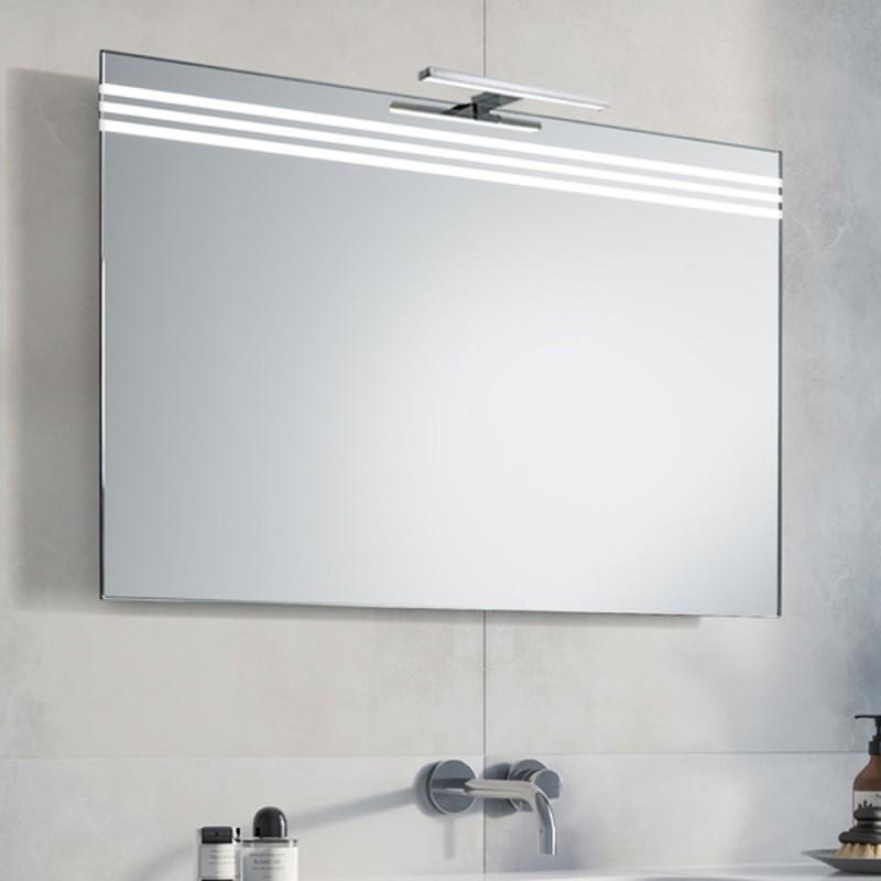 Specchio Bagno Con Lampada.Su Misura Specchio Da Bagno Con Lampada Led 5w Art Eos01
