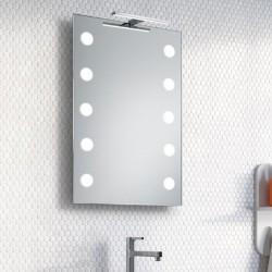 Su Misura Specchio da Bagno con Lampada Led 5W art. Luna01