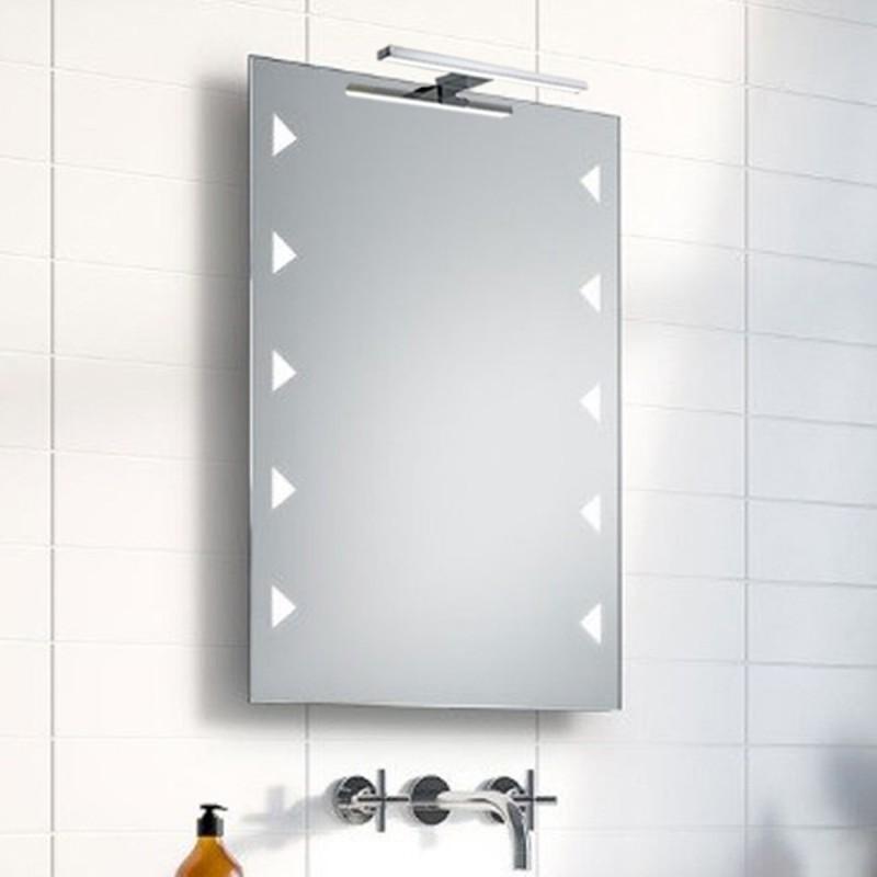 Specchio Bagno Con Lampada.Su Misura Specchio Da Bagno Con Lampada Led 5w Art Mirra01 Vendita Online Italiaboxdoccia