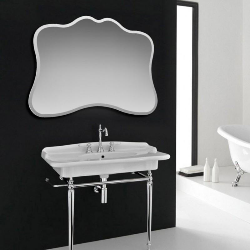 Specchio Con Cornice Per Bagno.Specchio Da Bagno Filo Lucido Sagomato Cornice Satinata Stile Retro