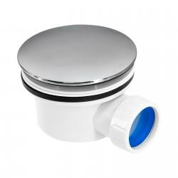 Piletta per piatto doccia con coperchio cromato ispezionabile filettato Ø 90