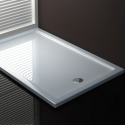 Piatto Doccia 70 x 140 cm in Acrilico Sanitario di Colore Bianco Altezza 3,5 cm
