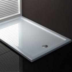 Piatto Doccia 80 x 140 cm in Acrilico Sanitario di Colore Bianco Altezza 3,5 cm