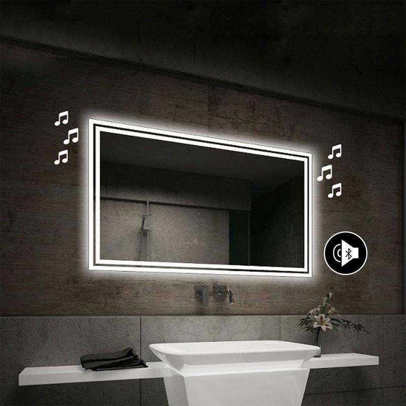 Su Misura Specchio Retroilluminato Led Con Altoparlante Bluetooth