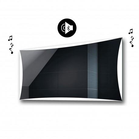 Specchio da Bagno con Angoli Squadrati Altoparlante Bluetooth e Cornice Sabbiata Retroilluminata led 20W art. spe98