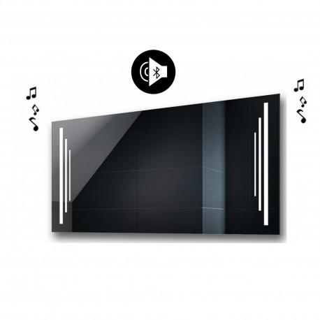 Specchio da Bagno con Angoli Squadrati Altoparlante Bluetooth e Disegno Sabbiato Retroilluminato led 20W art. spe100