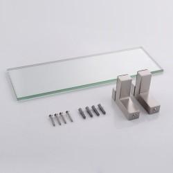 Misura al Centimetro Mensola in vetro rettangolare con angoli arrotondati spessore 8 mm