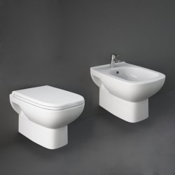 Sanitari Sospesi in Ceramica Rak Origin wc + bidet + sedile soft close
