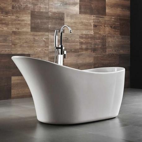 Vasca da bagno freestanding in acrilico 162x67 h77 ovale irregolare