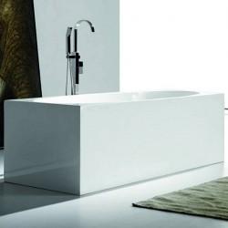 Vasca da bagno freestanding in acrilico 170x75 h58 rettangolare
