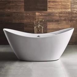Vasca da bagno freestanding in acrilico 172x76,5 h72 ovale