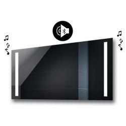 Specchio da Bagno con Angoli Squadrati Altoparlante Bluetooth e Disegno Sabbiato Retroilluminato led 20W art. spe118
