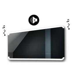 Specchio da Bagno con Angoli Arrotondati Altoparlante Bluetooth e Cornice Sabbiata Retroilluminata led 20W art. spe201