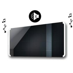 Specchio da Bagno con Angoli Arrotondati Altoparlante Bluetooth e Cornice Sabbiata Retroilluminata led 20W art. spe221