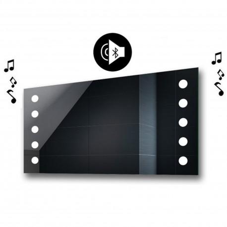 Specchio da Bagno con Angoli Squadrati e Altoparlante Bluetooth Retroilluminato led 20W art. spe301