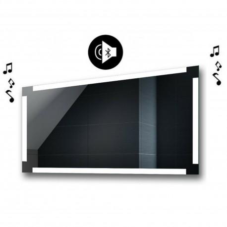 Specchio da Bagno con Angoli Squadrati e Altoparlante Bluetooth Retroilluminato led 20W art. spe400