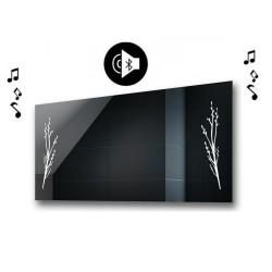 Specchio da Bagno con Angoli Squadrati e Altoparlante Bluetooth Retroilluminato led 20W art. spe402