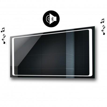 Specchio da Bagno con Angoli Squadrati e Altoparlante Bluetooth Retroilluminato led 20W art. spe432