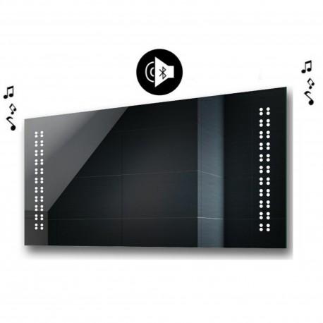 Specchio da Bagno con Angoli Squadrati e Altoparlante Bluetooth Retroilluminato led 20W art. spe433