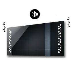 Specchio da Bagno con Angoli Squadrati e Altoparlante Bluetooth Retroilluminato led 20W art. spe435