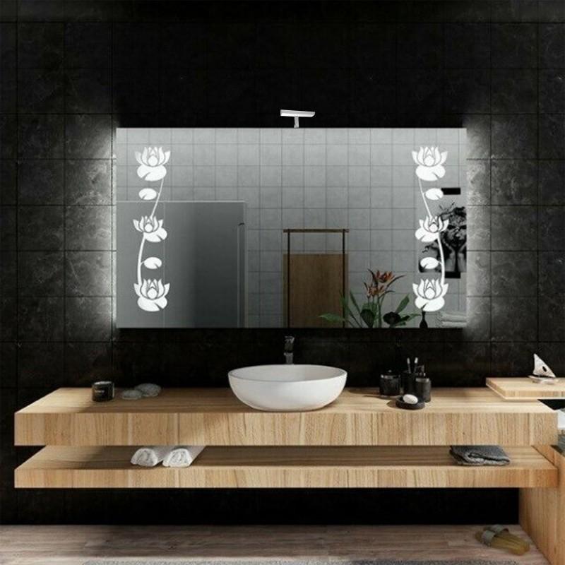 Specchio Bagno Con Lampada.Su Misura Specchio Da Bagno Con Lampada Led 5w Art Spe210