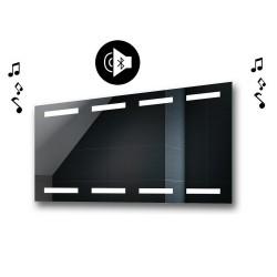 Specchio da Bagno con Angoli Squadrati Altoparlante Bluetooth e Disegno Sabbiato Retroilluminato led 20W art. spe101