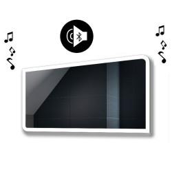 Specchio da Bagno con Altoparlante Bluetooth e Disegno Sabbiato Retroilluminato led 20W art. spe106