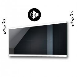 Specchio da Bagno con Angoli Squadrati Altoparlante Bluetooth e Disegno Sabbiato Retroilluminato led 20W art. spe107