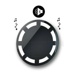Specchio da Bagno Rotondo con Altoparlante Bluetooth e Disegno Sabbiato Retroilluminato led 20W art. spe110