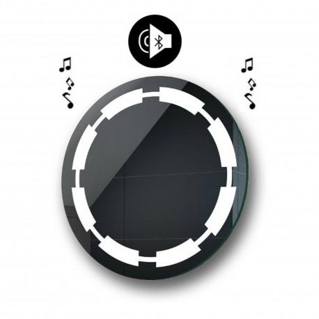 Specchio da Bagno Rotondo con Altoparlante Bluetooth e Disegno Sabbiato Retroilluminato led 20W art. spe200