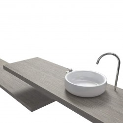 Top Bagno Larghezza 70 x Profondità 45 cm in abete per lavabi d'appoggio