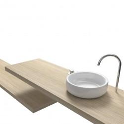Top Bagno Larghezza 120 x Profondità 45 cm in abete per lavabi d'appoggio