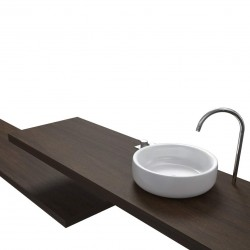 Top Bagno Larghezza 145 x Profondità 60 cm in abete per lavabi d'appoggio