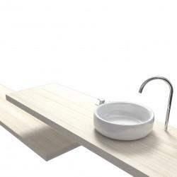 Su Misura Top Bagno Larghezza 130-139 x Profondità 45 cm in abete per lavabi d'appoggio