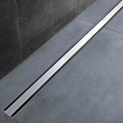 Canaletta Geberit CleanLine60 acciaio inox spazzolato 30-90 cm + Kit montaggio