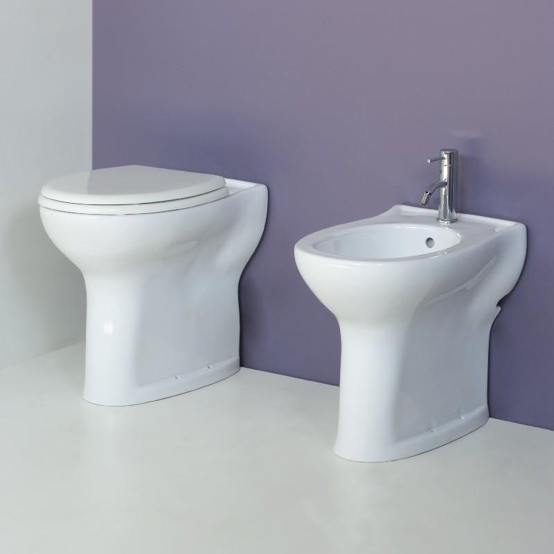 Vaso e bidet per anziani o disabili completo di sedile - Accessori bagno per anziani ...