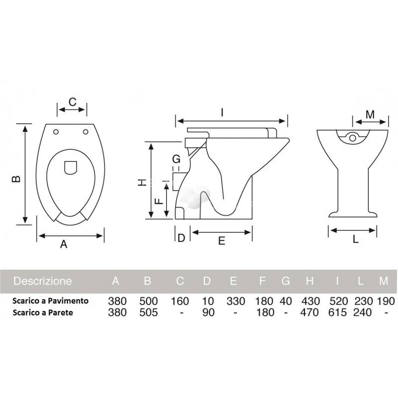 Vaso Per Disabili Cesabo Altezza 49 5 Cm