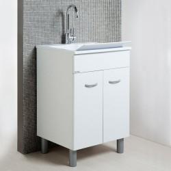 Lavarredo Unika con lavabo Zeus metacrilato 60x50 cm Elle Emme Ci Istallazione Interno Finitura Bianco Opaco